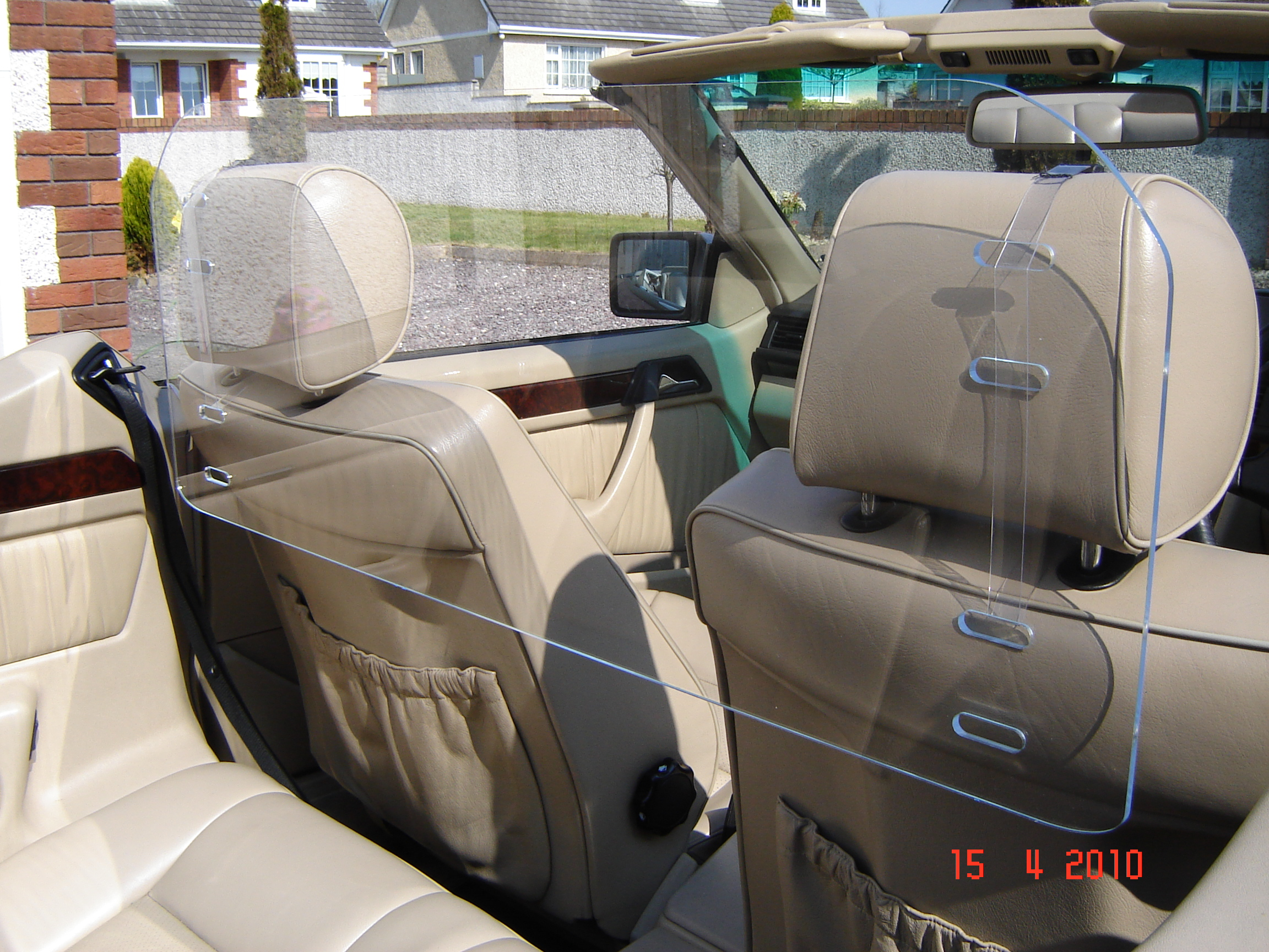 Mercedes windscreen wind deflector